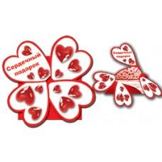 """Карусель """"Сердечный подарок"""" Размер:115x115мм (в сложенном виде) №24.15"""