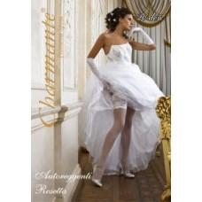 Чулки свадебные SP ROSETTA цвета: белый/bianco Размер: S/M