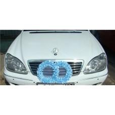 Два кольца для украшения машины атлас цвета в ассортименте №53.110