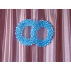 Два кольца для украшения квартиры, зала, стен, штор атлас цвета в ассортименте №53.110