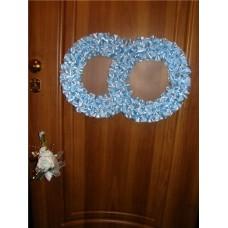 Два кольца для украшения дверей атлас цвета в ассортименте №53.110