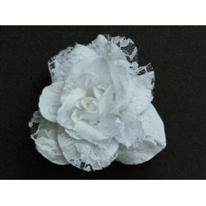 Бутоньерка Цветок Белый 12,5см №37.112