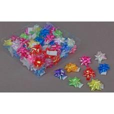 Бант-звезда перламутр 5 см пластик цвета в ассортименте №560.4