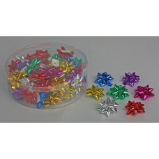 Бант-звезда металл 5 см пластик цвета в ассортименте Цена за 1 штуку №561.5