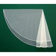 Фата с косой бейкой  Размер : 1,5метра Цвета: белая №00016.300