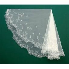 Фата вышитая белая Размер : 1,5х1,8 метра №63239.850