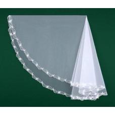 Фата вышитая белая, айвори Размер : 1,5метра №8444.700
