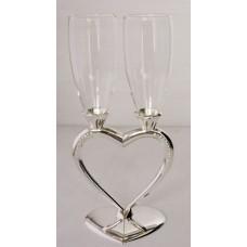№118.1200 Cвадебные бокалы Половинки сердца, серебро