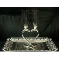 """№65.1090 Свадебные бокалы  """"серебро"""""""