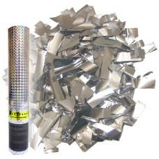 Пневмохлопушка в пластиковой тубе конфетти Серебро 30см №10987813.135
