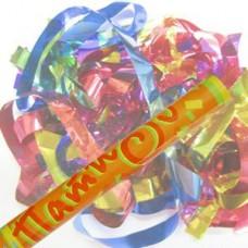 Пневмохлопушка в пластиковой тубе фольга конфетти 30см №742.131