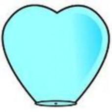 """Небесный Фонарик """"Сердце"""" Sky Blue d=38  2D №24.160"""