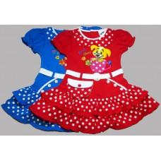 Платье Собачка в горошек, размеры: 1,2,3,5 лет №3.413 (271)