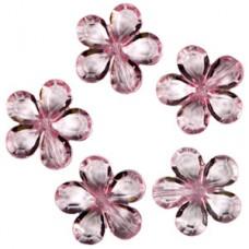 Декоративные бусины Цветы розовые 2,1см №771.3 (цена за 1 штуку)