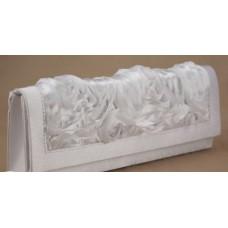 Сумка - клатч из атлас.  Размер: 26х11см Цвета: белая №4501020.550