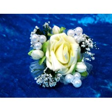 Цветочек-браслет Айвори 8см (отделка в ассортименте) №1756.55
