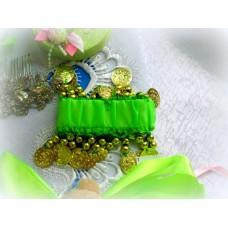 Браслет цвет светло-зеленый  №379.43