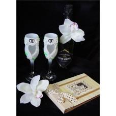 Бокалы для шампанского цвет: белый пара №142.345