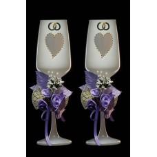 Бокалы Свадебные  с цветами пара №1926.342