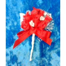 Бутоньерка 11,5х6см SvetikFantasy Цвет: красный №1655.147