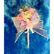 Бутоньерка 11,5х6см SvetikFantasy Цвет: бело/розовый/сиреневый №1656.147
