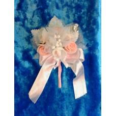 Бутоньерка 11,5х6см SvetikFantasy Цвет: бело/розовый №1658.147