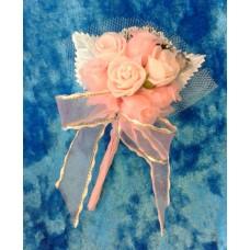 Бутоньерка 11,5х6см SvetikFantasy Цвет: розовый №1659.147