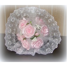 Букет невесты  Розовый (атлас) №511.185