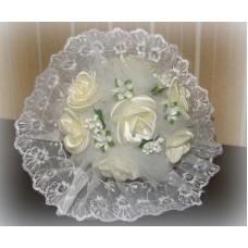 Букет невесты  Айвори (атлас) №512.185