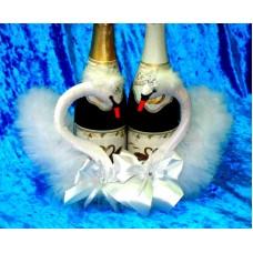 """Корзина """"Пара Лебедей"""" для шампанского №32.1500"""