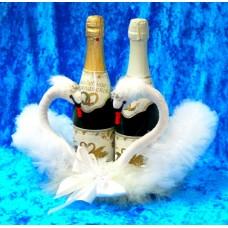 """Корзина """"Пара Лебедей"""" для шампанского №847.1500"""