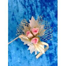 Цветочек Розовый с золотом 10,5х8,0см №1528.30