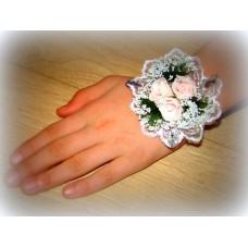 Цветочек-браслет Розовый 8см №459.48