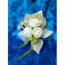 Цветочек Белый с золотом 10,5х8,0см №899.35