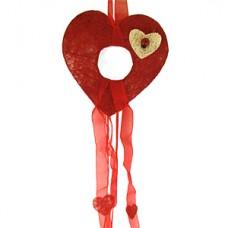 """Декор из сизаля """"Сердце"""", 20 см (отделка может отличаться) №610.42"""