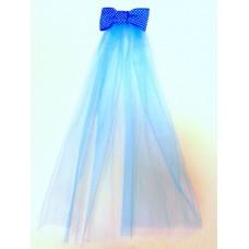 Фата  гребешком голубая SvetikFantasy (длина 50см) №1645.200