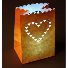 """Светящийся пакет """"Большое сердце""""  0,1× 11×16 см цвета в ассортименте"""