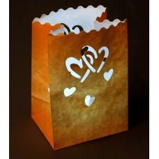 """Светящийся пакет """"Двойное сердце""""  0,1× 11×16 см цвета в ассортименте №390.14"""