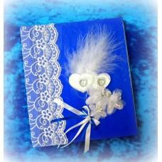 Альбом для пожеланий SvetikFantasy, 30страниц; размер: 15,5х18х1,5см, цвет: синий