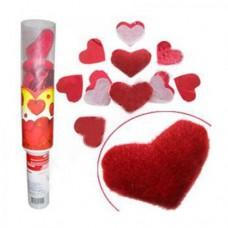 """Пневмохлопушка Сердца"""" (бумага/фольга/игрушки) - 40см №126.449"""