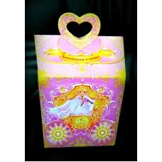 Свадебная копилка, сиреневая с розовым 36х17,5х15см  №1190.76