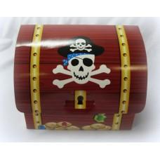 Пиратский сундучок, картон, 20,95х11,87х8,89см №1948.20