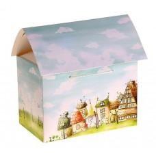 Коробка сборная сундучок домик сказочный №2163.45