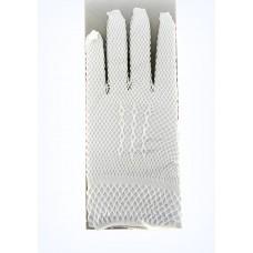 """Перчатки мини """"Гипюровые"""" белые, сеточка 8х18см"""