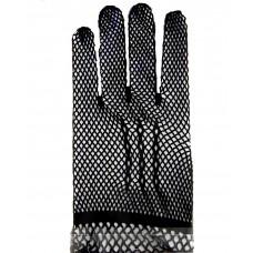 """Перчатки мини """"Гипюровые"""" черные, сеточка 8х18см"""