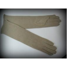 Перчатки бежевые кашемир 31см №374.225