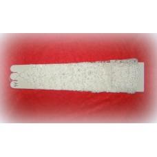 Перчатки  сетка, стеклярус, бусины,бисер Цвет: Белый 42см №488.584