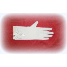 Перчатки  с бусиной 22см Цвета: Айвори №492.318