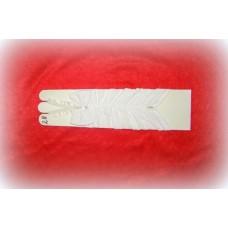 Перчатки со стразами Цвета: белые, айвори см №494.287