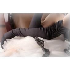 Перчатки  черные  53см №623.270